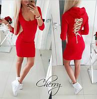 Платье с капюшоном / французский трикотаж / Украина 28-208