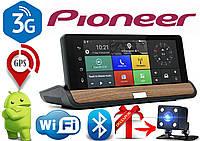 Видеорегистратор GPS навигатор Pioneer T7 на Android с 3G + камера заднего вида в подарок