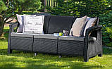 Комплект садових меблів зі штучного ротангу CORFU Set Triple Max графіт ( Keter ), фото 7