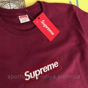 Мужская красная футболка Supreme унисекс Реплика, фото 2