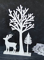 Дерево белое деревянное 41 см