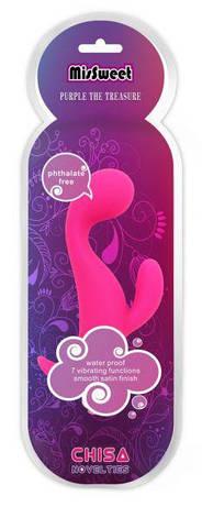 Вибратор кролик MisSweet Purple The Treasure, вишневый, фото 2