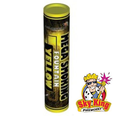 Цветной дым SMOKING желтый 50мм 1 шт. MA0514