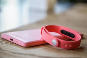 Фитнес браслет mi band 2 розовый, фото 2