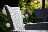 Комплект садових меблів зі штучного ротангу Melody Quartet 4Y PALERMO Iowa/Melody (4) темно-коричневий (Keter), фото 8