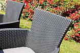 Комплект садових меблів зі штучного ротангу Melody Quartet 4Y PALERMO Iowa/Melody (4) темно-коричневий (Keter), фото 9