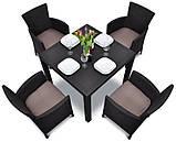 Комплект садових меблів зі штучного ротангу Melody Quartet 4Y PALERMO Iowa/Melody (4) темно-коричневий (Keter), фото 4