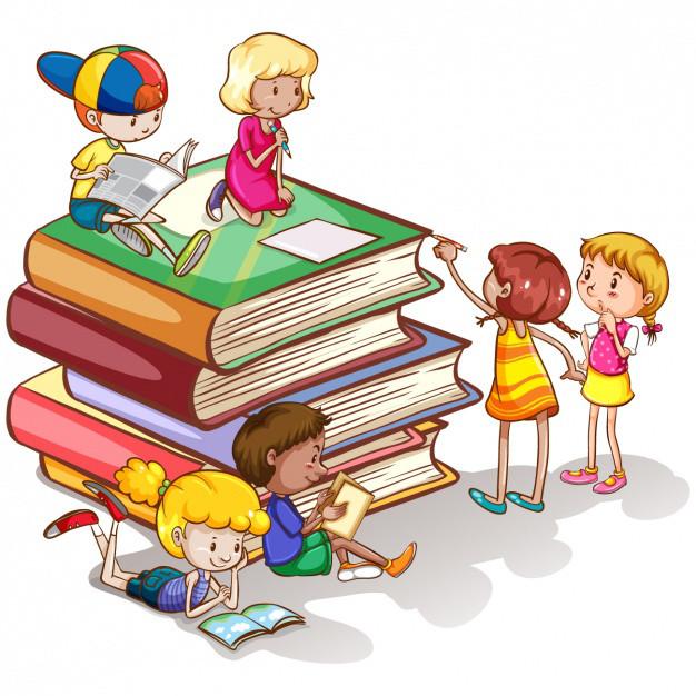 Рисунок дети книга