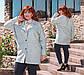 """Женское короткое пальто демисезон в больших размерах """"Букле Овер"""" в расцветках, фото 4"""