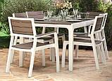 Комплект садових меблів зі штучного ротангу FLORENCE 6+1 капучіно ( Keter ), фото 8