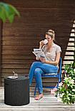 Функціональний садовий бар COOL STOOL гтемно-коричневий (Keter), фото 3