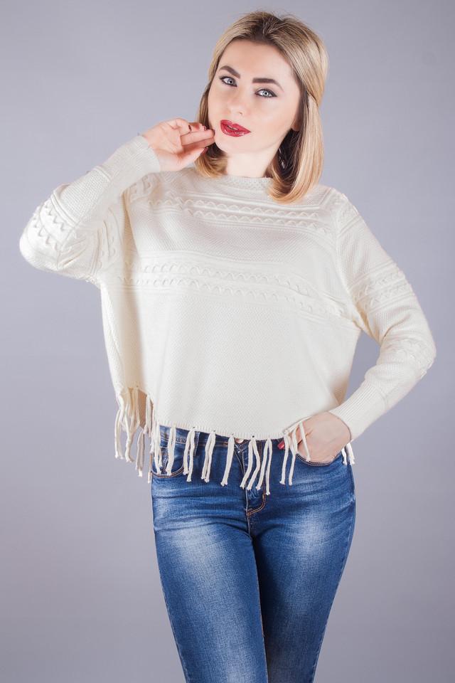 Купить в Украине Модный женский джемпер бахрома