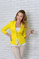 """Жакет  женский """"Париж"""" арт. 04, желтого цвета, фото 1"""