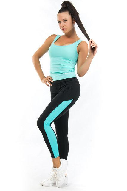 Женская одежда для спорта (42,44,46,48,50,52,54) (мята) одежда для йоги и фитнеса из бифлекса