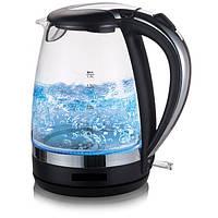 Чайник электрический Domotec MS 8110 стекло и подсветка черный Хит продаж!