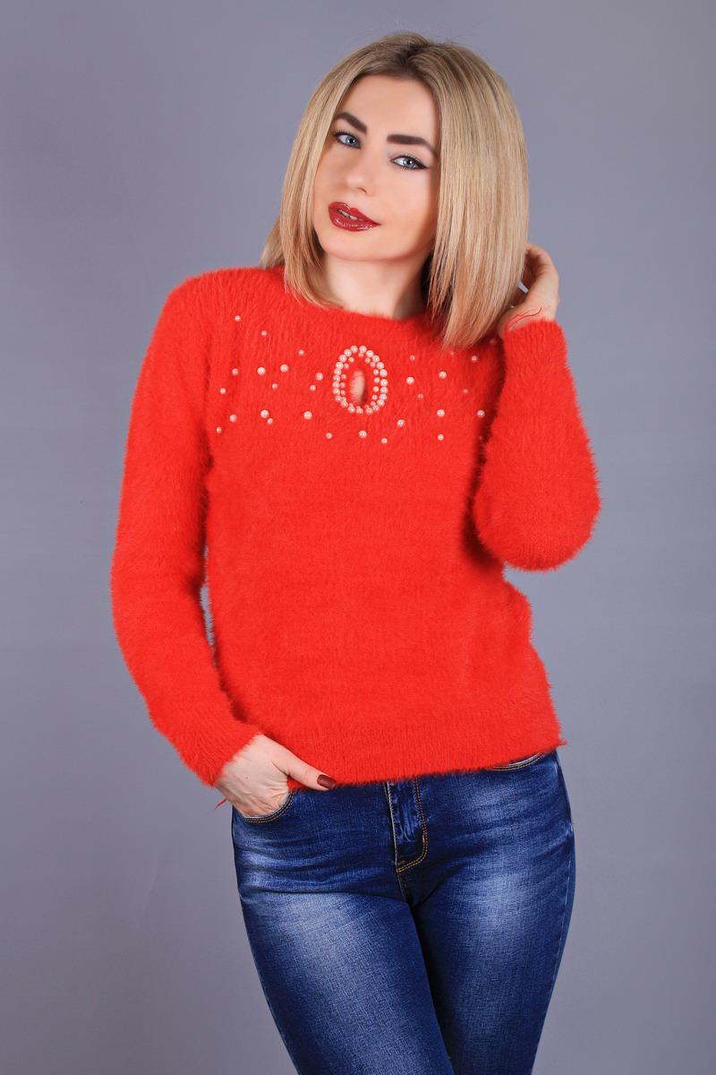 Мягкий женский свитер травка
