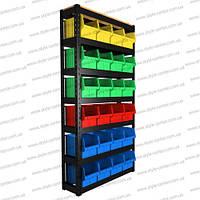 Стелаж 1800х940х300мм, 6+1 полиць (чорний)