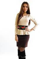 Жіноче плаття з вишивкою Баска