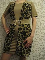 Молодежное трикотажное платье , фото 1