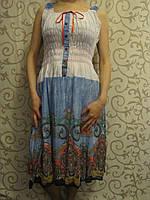 Летний женский сарафан комбинированный,, фото 1
