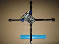 Ключ крест усиленный, с центральный пластиной, хром 17X19X21X1/2 мм.