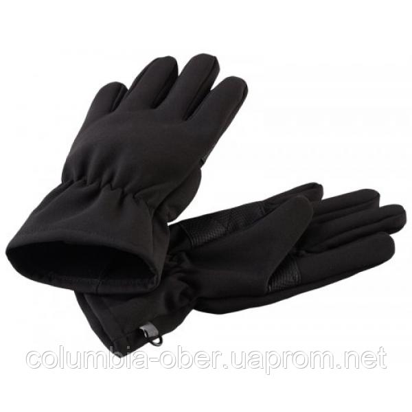 Демисезонные перчатки для мальчика Lassie Softshell 727705-9990. Размеры 3-6.