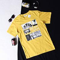 Стильная желтая футболка