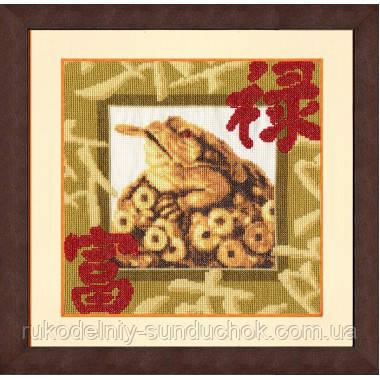 """Набор для вышивания крестом ТМ Золотое Руно """"Золотая жаба. Магия востока """" МГ-020"""