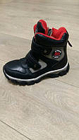 Ботинки зимние для мальчика, Clibee, черные с красным, размер 35,36,37