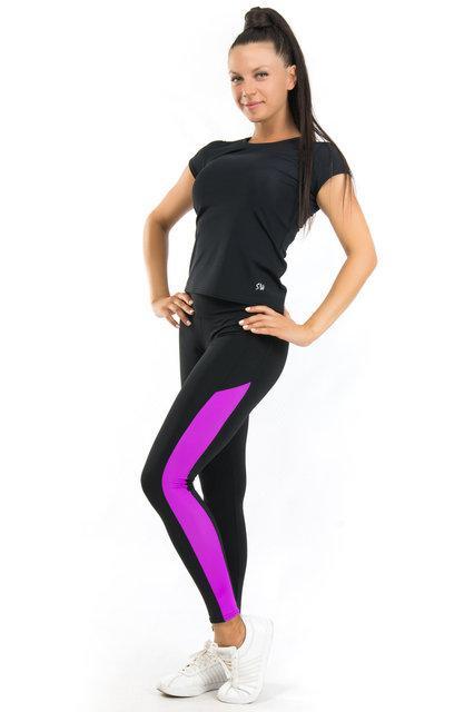Женский спортивный костюм футболка и лосины (42,44,46,48,50,52,54) одежда для йоги и фитнеса БАТАЛ