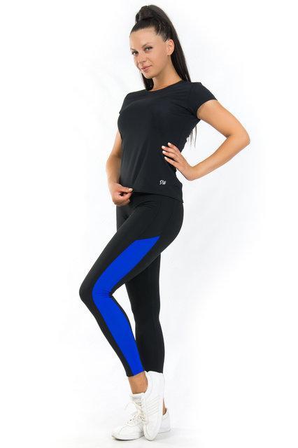 Комплект футболка и лосины для спорта (42,44,46,48,50,52,54) женская спортивная одежда для фитнеса БАТАЛ