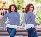"""Женская стильная блузка-туника до больших размеров 41115 """"Софт Полоска Оборка Контраст"""" в расцветках, фото 5"""