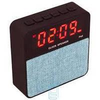 Портативная Bluetooth колонка T1 с часами и будильником