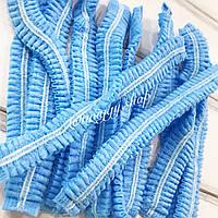 Одноразовые шапочки спанбонд на двойной резинке 10 шт. (голубой) Polix Pro & Med