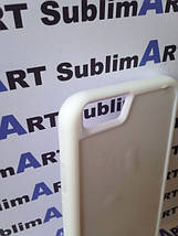 Чехол для 2D сублимации резиновый (TPU) Iphone 6/6s белые, фото 3
