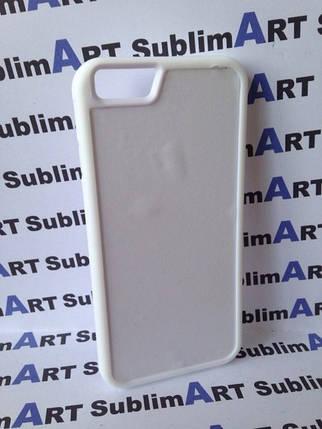Чехол для 2D сублимации резиновый (TPU) Iphone 6/6s белые, фото 2