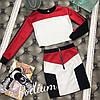 Женский костюм: короткая кофта с юбкой в расцветках. ПО-4-0818, фото 2