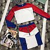 Женский костюм: короткая кофта с юбкой в расцветках. ПО-4-0818, фото 3