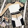 Женский костюм: короткая кофта с юбкой в расцветках. ПО-4-0818, фото 4