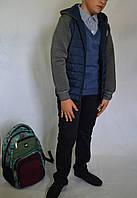 Кофта-ветровка с капюшоном на мальчика  128-146р, фото 1