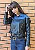 Женская комбинированная куртка-косуха. БР-2-0818, фото 2