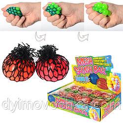 Игрушка MS 0415 (144шт) антистресс, виноград, пузыри, в кульке, 5см, 24шт в дисплее, 25-18,5-5,5см