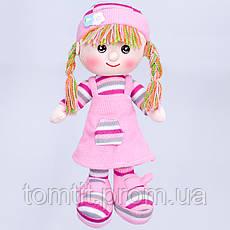 Кукла мягконабивная, тканевая, вязаная, цвет розовый, фото 3
