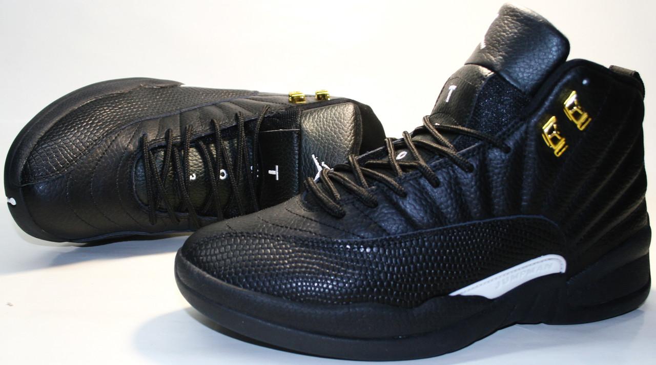 22adc817 Баскетбольные кроссовки кожаные Air Jordan 12 Retro The Master black ...