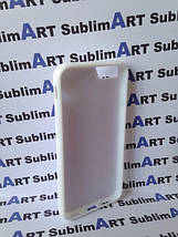 Чехол для 2D сублимации резиновый (TPU) Iphone 6/6s PLUS белые, фото 2