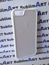Чехол для 2D сублимации резиновый (TPU) Iphone 6/6s PLUS белые, фото 3