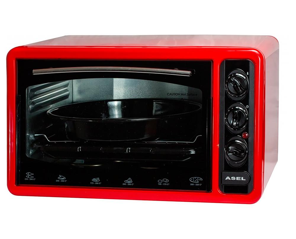 Электродуховка ASEL AF 4023 Red, электрическая духовка, электропечь
