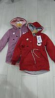 Детские трикотажные курточки на меху для девочек.фирма GRACE,разм 98-128см