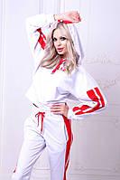 Спортивный женский костюм с капюшоном двунить А9217, фото 1