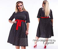 Платье большого размера / хлопок / Украина 17-1218, фото 1